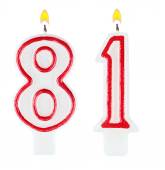 Birthday candles number eighty one — Stock Photo