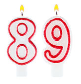 Birthday candles number eighty nine — Stock Photo
