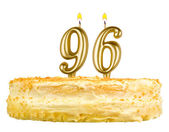Birthday cake with candles number ninety six — Stock Photo