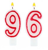Birthday candles number ninety six — Stock Photo