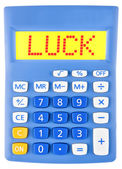 Calculator with LUCK — Stock Photo