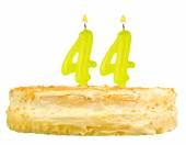 Birthday cake with candles number forty four — Stockfoto