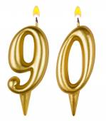 Birthday candles number ninety — Stock fotografie