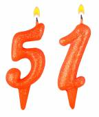 Birthday candles number fifty one — Stock Photo