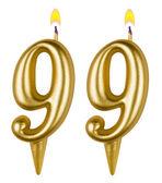 Birthday candles number ninety nine one — Stock fotografie