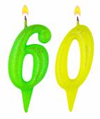 Birthday candles number sixty — Stock Photo