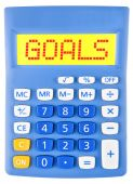 Calculator with GOALS — Stock Photo