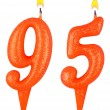 Birthday candles number ninety five — Foto de Stock   #62757847