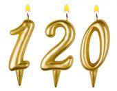 Candles number one hundred twenty — Stock fotografie