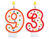 Birthday candles number ninety three — Stock Photo