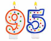 Birthday candles number ninety five — Stock Photo