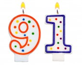 Birthday candles number ninety one — Stock Photo