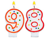 Birthday candles number ninety eight  — Stock Photo