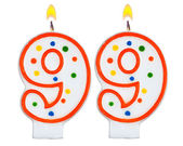 Birthday candles number ninety nine one  — Stock Photo