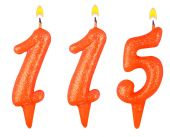 Candles number one hundred fifteen — Stock Photo