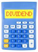 Calculator with DIVIDEND on display — Stock Photo