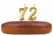 Birthday cake candles number 72 isolated — Stock Photo