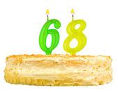 Birthday cake with candles number sixty eight — Stock Photo