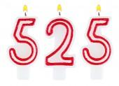 Candles number five hundred twenty-five — Stock Photo