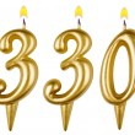 Постер, плакат: Candles number three hundred thirty