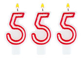 Candles number five hundred fifty-five — Foto Stock