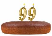 Birthday cake candles number 99 isolated — Stock Photo
