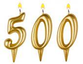 Candles number five hundred  — Stock fotografie