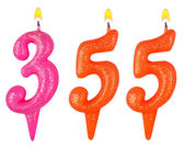 Candles number three hundred fifty five — Stock Photo