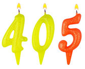 Candles number four hundred five — Stock Photo