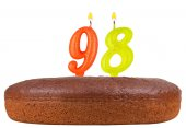 Birthday cake candles number 98 isolated — Stock Photo