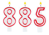 Candles number eight hundred eighty-five — Stock Photo