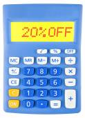 Calculator with 20OFF — Stock Photo