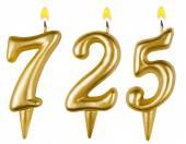 Candles number seven hundred twenty-five  — Foto Stock