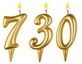 Kaarsen nummer zeven honderd dertig — Stockfoto