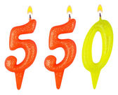 Świece numer pięć sto pięćdziesiąt — Zdjęcie stockowe