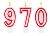 Candles number nine hundred seventy  — Stock Photo