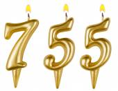 Candles number seven hundred fifty-five — Stock Photo