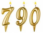Kaarsen nummer zeven honderd negentig — Stockfoto