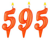 Candles number five hundred ninety-five — Stock Photo
