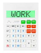 Calculator with WORK on display  — Stock Photo