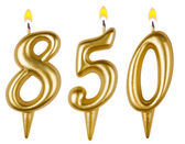 Kaarsen nummer acht honderd vijftig — Stockfoto