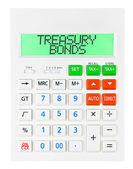 Calculator with TREASURY BONDS — Stock Photo