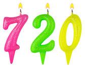 Candles number seven hundred twenty  — Stock fotografie