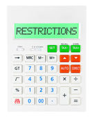 Calculator with RESTRICTIONS — Stock Photo
