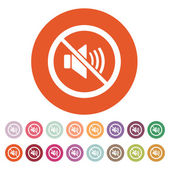The no sound icon. Volume Off symbol. Flat — Stock Vector
