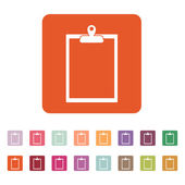 The clipboard icon. Paperwork symbol. Flat — Stock Vector