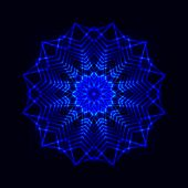 Abstract cosmic star snowflake — Stock Vector