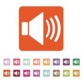 The speaker icon. Sound symbol. Flat — Stock Vector