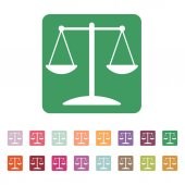 The scales icon. — Stock Vector