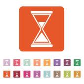 The hourglass icon. Clock symbol. Flat — Stock Vector